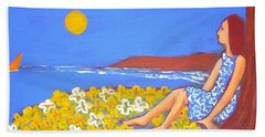 Bath Towel featuring the painting A Quiet Place by Winsome Gunning