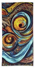 Hand Towel featuring the painting A Ray Of Hope by Harsh Malik