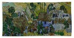 A Replica Of A Painting  Of Van Gogh Bath Towel by Pemaro