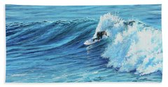 A Ride On Steamer Lane Hand Towel