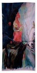 A Rider Hand Towel by Khalid Saeed