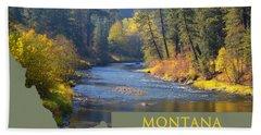 A River Runs Thru Autumn Hand Towel
