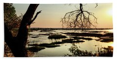 A River Sunset In Botswana Hand Towel