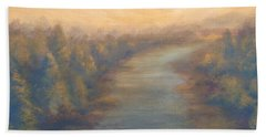 A River's Edge Hand Towel by T Fry-Green