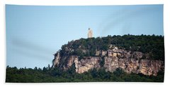 A Rock With A View Bath Towel by Jeff Severson