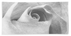 A Rose Is A Rose Black And White Floral Photo 753  Bath Towel