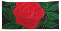 A Rose Is A Rose Is A Rose Hand Towel