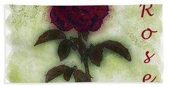 A Rose Bath Towel