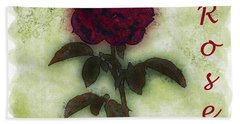 A Rose Hand Towel
