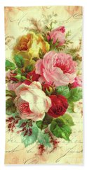 A Rose Speaks Of Love Bath Towel by Tina LeCour
