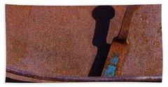 Bath Towel featuring the photograph A Rusted Development II by Paul Wear