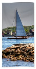 Bath Towel featuring the photograph A Sailing Life by Tom Prendergast