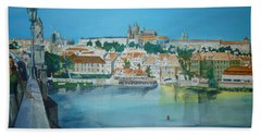A Scene In Prague 3 Bath Towel