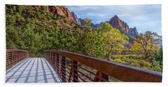 Bath Towel featuring the photograph A Scenic Hike by James Woody