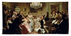 A Schubert Evening In A Vienna Salon Hand Towel