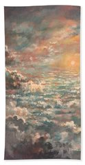 A Sea Of Clouds Bath Towel by Randy Burns