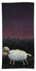 A Sheep In The Dark Hand Towel