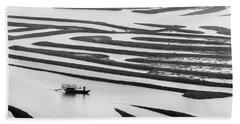 A Solitary Boatman. Hand Towel