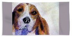 A Soulful Hound Hand Towel