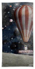 Hand Towel featuring the painting A Space Adventure by Bri B