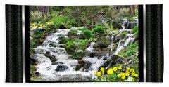 A Splendid Day On Logging Creek Bath Towel