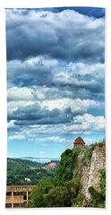 Bath Towel featuring the photograph A Spring Day At The Roman Walls Of Tarragona by Eduardo Jose Accorinti
