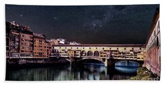 A Starry Starry Night In Florence, Italy Bath Towel