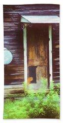 A Still Llife Portrait Of The Door On The Old Homestead Bath Towel