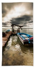 Bath Towel featuring the photograph A Storm Brewing by Lawrence Burry