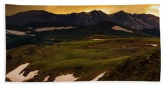 Hand Towel featuring the photograph A Stormy Alpine Sunset by John De Bord