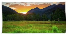 Hand Towel featuring the photograph A Summer Evening In Colorado by John De Bord