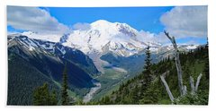 Bath Towel featuring the photograph A Summer View Of The Mountain  by Lynn Hopwood