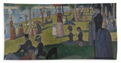 A Sunday Afternoon On The Island Of La Grande Jatte Hand Towel