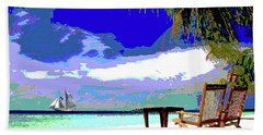 A Sunny Day At The Beach Hand Towel