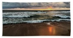 Hand Towel featuring the photograph A Sunrise Over Kitty Hawk by Linda Mesibov