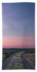 A Sunrise Path Bath Towel by Leland D Howard