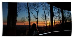 A Sunset View Hand Towel
