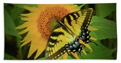 A Swallowtail Butterfly Hand Towel by Scott Cameron