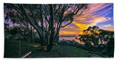 A Swinging Sunset From The Secret Swings Of La Jolla Hand Towel