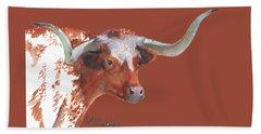 A Texas Longhorn Portrait Bath Towel
