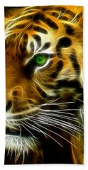 A Tiger's Stare Bath Towel