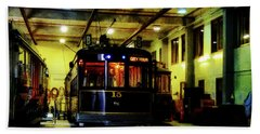 Bath Towel featuring the photograph A Tram I Am by Steve Taylor