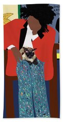 A Tribute To Jean-michel Basquiat Bath Towel