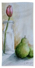 A Tulip And Two Pears Bath Towel