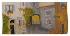 A Tuscany Village Italy Bath Towel