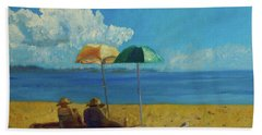 Bath Towel featuring the painting A Vacant Lot - Byron Bay by Paul McKey