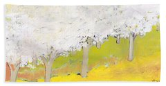 A Valley In Bloom Hand Towel