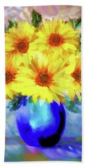 A Vase Of Sunflowers Bath Towel