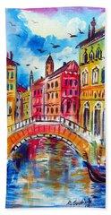 A Venetian Bridge  Bath Towel