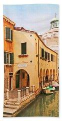 A Venetian View - Sotoportego De Le Colonete - Italy Hand Towel